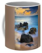 Sunset Beach Rocks Coffee Mug by Inge Johnsson