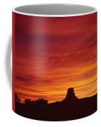 Sunset Behind Devil's Tower Coffee Mug