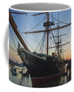 Sunset Behind Hms Warrior Coffee Mug