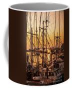 Sunset Boat Masts At Dock Morro Bay Marina Fine Art Photography Print Sale Coffee Mug