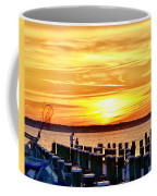 Sunset By The Dock Coffee Mug
