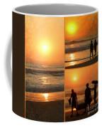 Sunset - Orange Beach Collage Coffee Mug