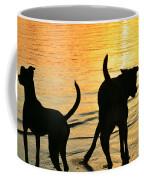 Sunset Dogs  Coffee Mug by Laura Fasulo