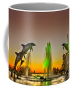 Sunset Dolphins Coffee Mug