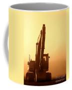 Sunset Excavator Coffee Mug