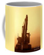 Sunset Excavator Coffee Mug