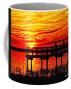 Sunset Fishing At The Pier Coffee Mug