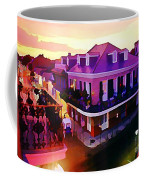 Sunset From The Balcony In The French Quarter Of New Orleans Coffee Mug