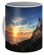 Sunset Glow At Bass Harbor Coffee Mug
