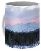 Sunset Glow Behind Winterly Little Peak Yt Canada Coffee Mug