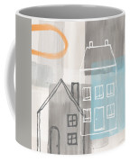 Sunset In The City Coffee Mug by Linda Woods