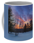 Sunset In The Park Square Coffee Mug