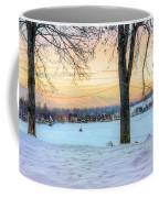 Sunset In The Snow Coffee Mug