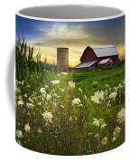 Sunset Lace Pastures Coffee Mug by Debra and Dave Vanderlaan