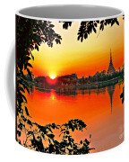Sunset Leaves Coffee Mug