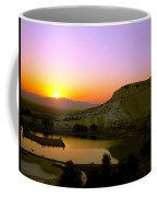 Sunset On Cotton Castles Coffee Mug