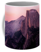 Sunset On Half Dome As Seen Coffee Mug