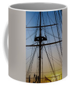 Sunset On Hms Warrior Coffee Mug