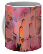 Sunset On Houses Coffee Mug