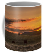 Sunset On Open Range Coffee Mug