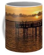 Sunset On The Dock Coffee Mug