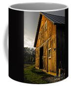 Sunset On The Horse Barn Coffee Mug by Edward Fielding