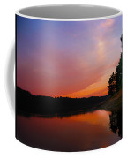 Sunset On The Kennebec River Coffee Mug