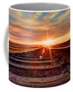 Sunset On The Rails Coffee Mug
