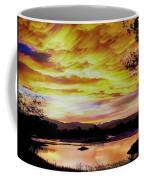 Sunset Over A Country Pond Coffee Mug
