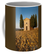 Sunset Over Cappella Di Vitaleta Coffee Mug