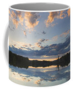 Sunset Over Flying Pond In Vienna Maine Coffee Mug by Keith Webber Jr