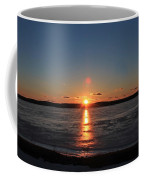 Sunset Over Frozen Wachusett Reservoir 2 Coffee Mug