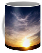Sunset Over Hills With Clouds Coffee Mug
