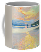 Sunset Over Lake Ruovesi Coffee Mug