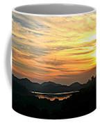 Sunset Over Lake Wohlford Coffee Mug