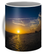 Sunset Over Miami From Out At Sea Coffee Mug