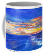 Sunset Over Point Lonsdale As Viewed From Cape Schanck  Coffee Mug