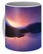 Sunset Over Resurrection River And Exit Coffee Mug