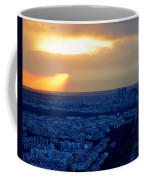 Sunset Over The Eiffel Tower Coffee Mug