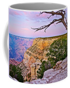 Sunset Over The Grand Canyon From South Rim Trail In Grand Canyon National Park-arizona   Coffee Mug