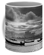 Sunset Over The Gulf Of Thailand Black And White Coffee Mug