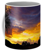 Sunset Over The Mc Dowell Mountains Coffee Mug