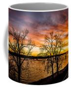 Sunset Over The Mississippi River Coffee Mug