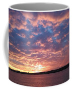 Sunset Over The Narrows Waterway Coffee Mug