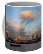 Sunset Over The River Thames London Coffee Mug
