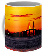 Sunset Over The Skyway Bridge Crop Coffee Mug