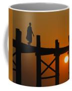 Sunset Over The U Bein Foot Bridge Coffee Mug