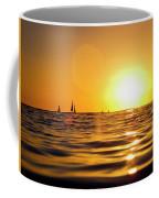 Sunset Over The Water In Waikiki Coffee Mug