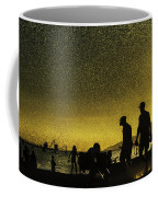 Sunset Silhouette Of People At The Beach Coffee Mug