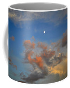 Sunset Sky With Gibbous Moon And Clouds Usa Coffee Mug
